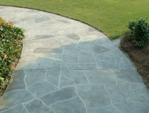 Concrete Walkway resurfaced with decorative finish