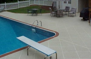 Pool deck restored and resurfaced