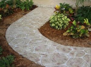 Resurface walkway to look like large stones