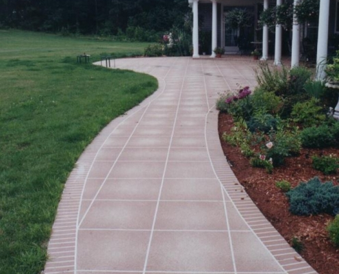Concrete walkway restored and resurfaced