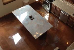 reflective finish flooring system