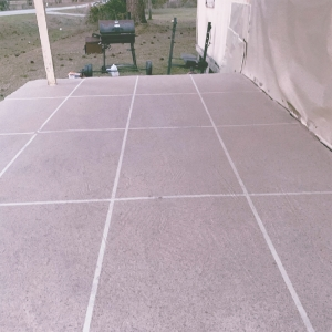 Back Patio Resurface After