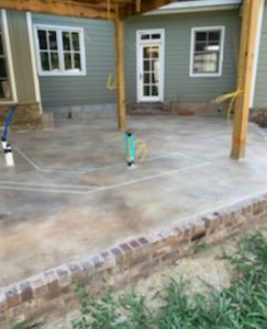 Patio After it was resurfaced with decorative concrete